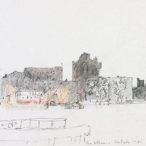 1980: Canale della Giudecca | Bleistift und Buntstifte auf Papier (21,1 x 29,7 cm)
