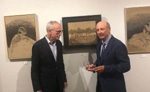 Wilfried Magnet und Siegbert Metelko bei einer Music Ausstellung in New York