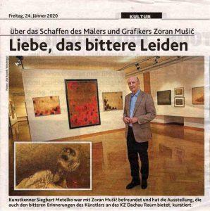 Članek Kronen Zeitung Glasba s Siegbertom Metelkom