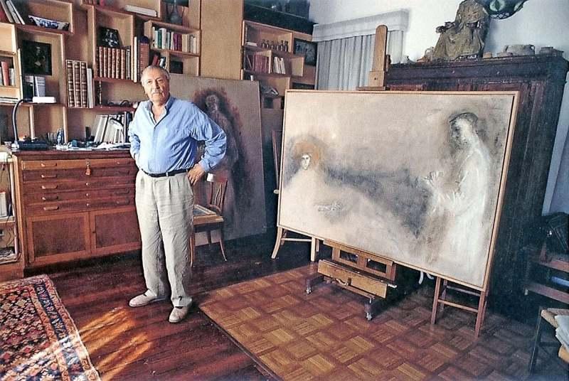 Zoran Music in seinem Atelier
